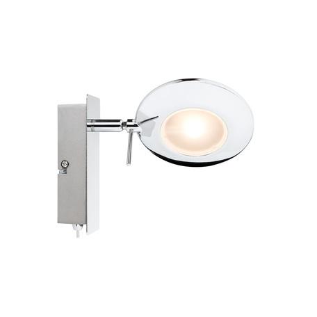 Настенный светодиодный светильник с регулировкой направления света Paulmann Orb 60250, LED 3W, металл
