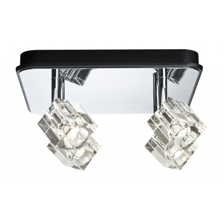 Потолочная светодиодная люстра с регулировкой направления света Paulmann Ice Cube 60169, LED 12W, металл, стекло