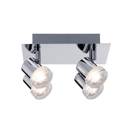 Потолочная светодиодная люстра с регулировкой направления света Paulmann Bubbles 60376, LED 20W, металл, пластик