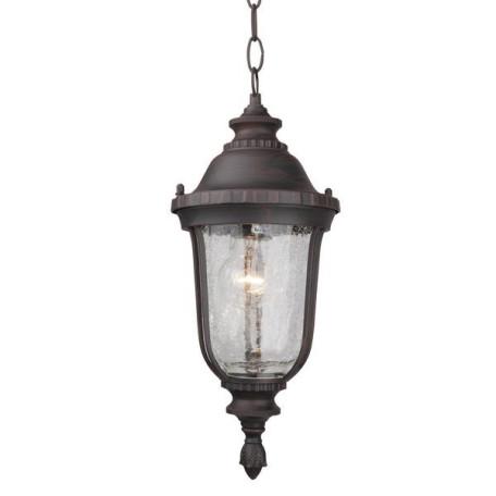 Подвесной светильник L'Arte Luce Nampa L79801.12, IP44, 1xE27x60W, коричневый, прозрачный, металл, металл со стеклом/пластиком