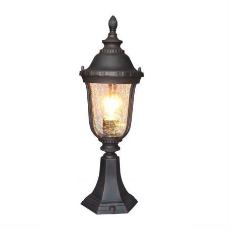 Садово-парковый светильник L'Arte Luce Nampa L79884.12, IP44, 1xE27x60W, коричневый, прозрачный, металл, металл со стеклом/пластиком
