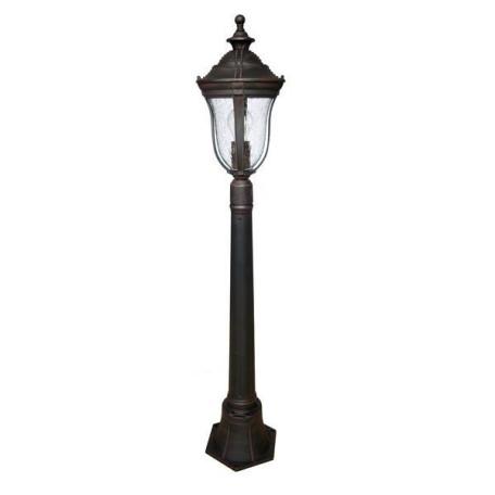 Уличный фонарь L'Arte Luce Jersey L79385.12, IP44, 1xE27x60W, коричневый, прозрачный, пластик, стекло