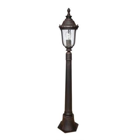Уличный фонарь L'Arte Luce Nampa L79885.12, IP44, 1xE27x60W, коричневый, прозрачный, металл, стекло