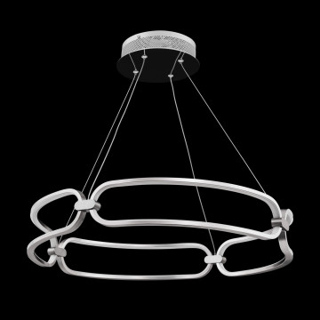 Подвесной светодиодный светильник Maytoni Modern Chain MOD017PL-L50N, LED 50W 3000K 3500lm CRI80, никель, металл