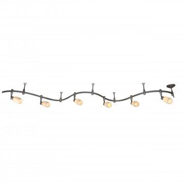 Гибкая система освещения Arte Lamp Instyle Rails Kits A3059PL-6SI, 6xE14x40W, серебро, белый, металл, пластик, стекло