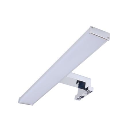 Мебельный светодиодный светильник Arte Lamp Stecca A2837AP-1CC, IP44, LED 8W 4000K 560lm CRI≥80, хром, белый, металл, металл с пластиком, пластик