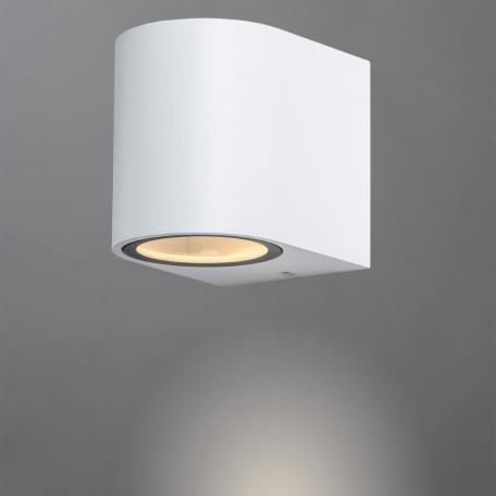 Настенный светильник Arte Lamp Instyle Compass A3102AL-1WH, IP44, 1xGU10x35W, белый, металл, стекло