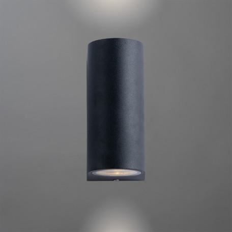 Настенный светильник Arte Lamp Instyle Compass A3102AL-2BK, IP44, 2xGU10x35W, черный, металл, стекло