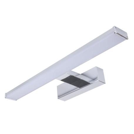 Настенный светодиодный светильник для подсветки зеркал Arte Lamp Stecca A2838AP-1CC, IP44, LED 8W 4000K 560lm CRI≥80, хром, белый, металл, металл с пластиком, пластик