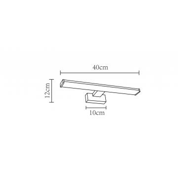 Схема с размерами Arte Lamp A2838AP-1CC
