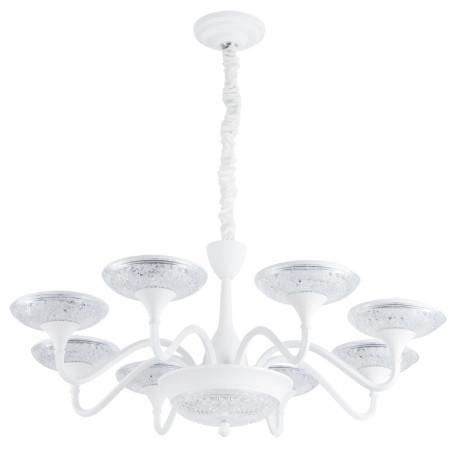 Подвесная светодиодная люстра Arte Lamp Bern A5168LM-8WH, LED 117W 4000K 7000lm CRI≥80, белый, металл, металл с пластиком
