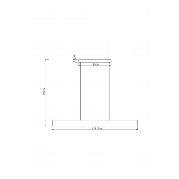 Схема с размерами Arte Lamp A2505SP-2WH