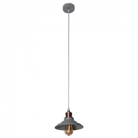 Подвесной светильник Arte Lamp Lido A5067SP-1GY, 1xE27x60W, серый с медью, серый, металл
