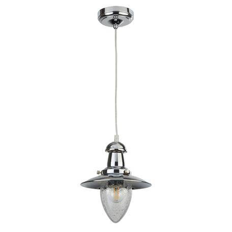 Подвесной светильник Arte Lamp Fisherman A5518SP-1CC, 1xE27x60W, хром, прозрачный, металл, металл со стеклом