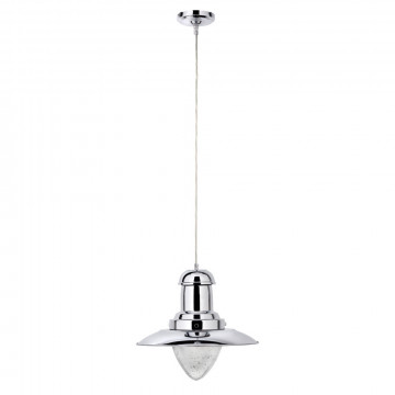 Подвесной светильник Arte Lamp Fisherman A5530SP-1CC, 1xE27x100W, хром, прозрачный, металл, металл со стеклом