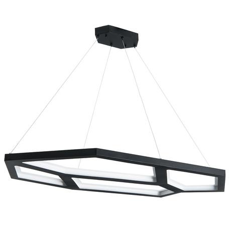 Подвесной светодиодный светильник Arte Lamp Diablo A2515SP-1BK, LED 70W 4000K 2280lm CRI≥90, черный, металл, металл с пластиком, пластик