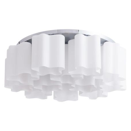 Потолочная люстра Arte Lamp Serenata A3479PL-12CC, 12xE27x40W, хром, белый, металл, стекло