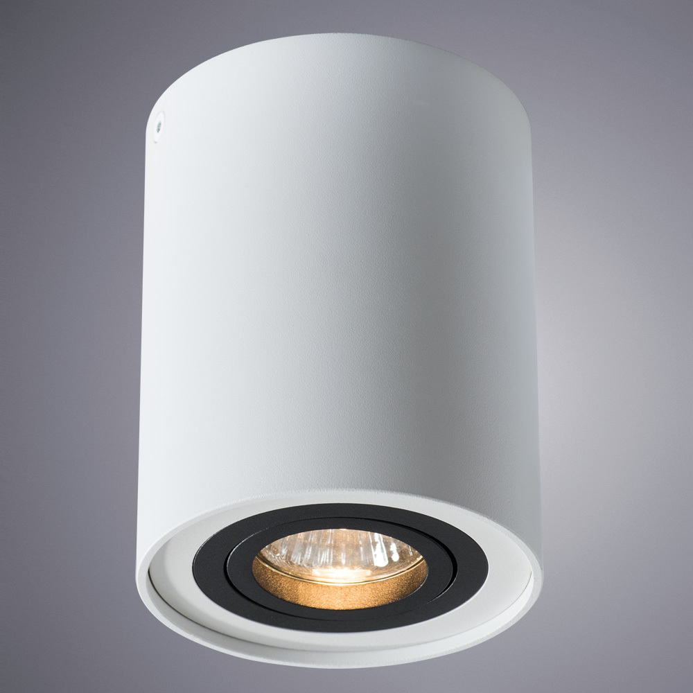 Потолочный светильник Arte Lamp Instyle Falcon A5644PL-1WH, 1xGU10x50W, белый, черный, металл - фото 1