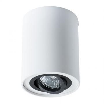 Потолочный светильник Arte Lamp Instyle Falcon A5644PL-1WH, 1xGU10x50W, белый, черный, металл - миниатюра 2