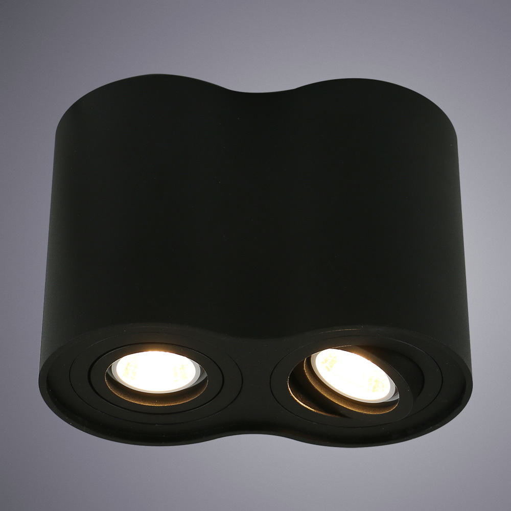 Потолочный светильник Arte Lamp Instyle Falcon A5644PL-2BK, 2xGU10x50W, черный, металл - фото 1