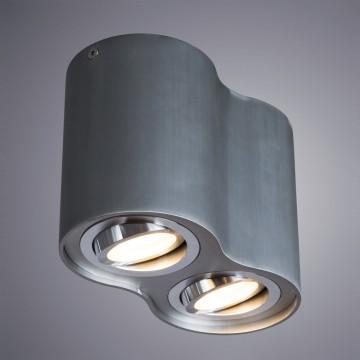 Потолочный светильник Arte Lamp Instyle Falcon A5644PL-2SI, 2xGU10x50W, серебро, металл