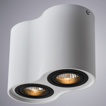 Потолочный светильник Arte Lamp Instyle Falcon A5644PL-2WH, 2xGU10x50W, белый, черный, металл - миниатюра 1