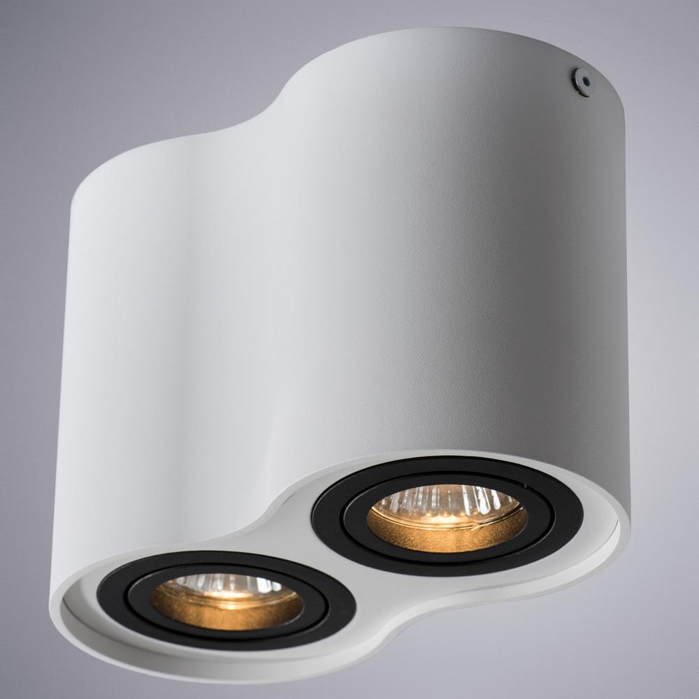 Потолочный светильник Arte Lamp Instyle Falcon A5644PL-2WH, 2xGU10x50W, белый, черный, металл - фото 1