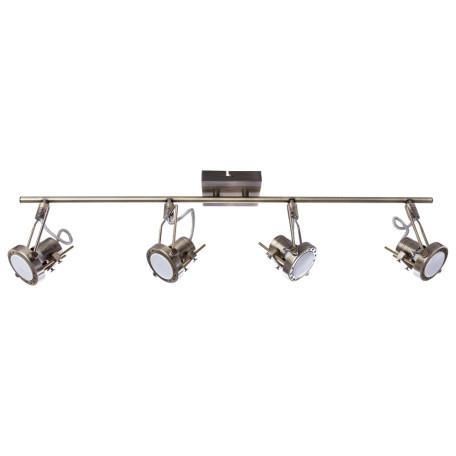 Потолочный светильник с регулировкой направления света Arte Lamp Costruttore A4301PL-4AB, 4xGU10x50W, бронза, металл