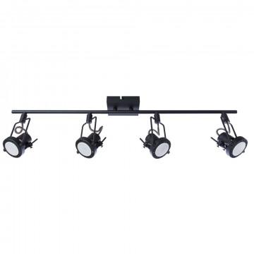 Потолочный светильник с регулировкой направления света Arte Lamp Costruttore A4301PL-4BK, 4xGU10x50W, черный, металл