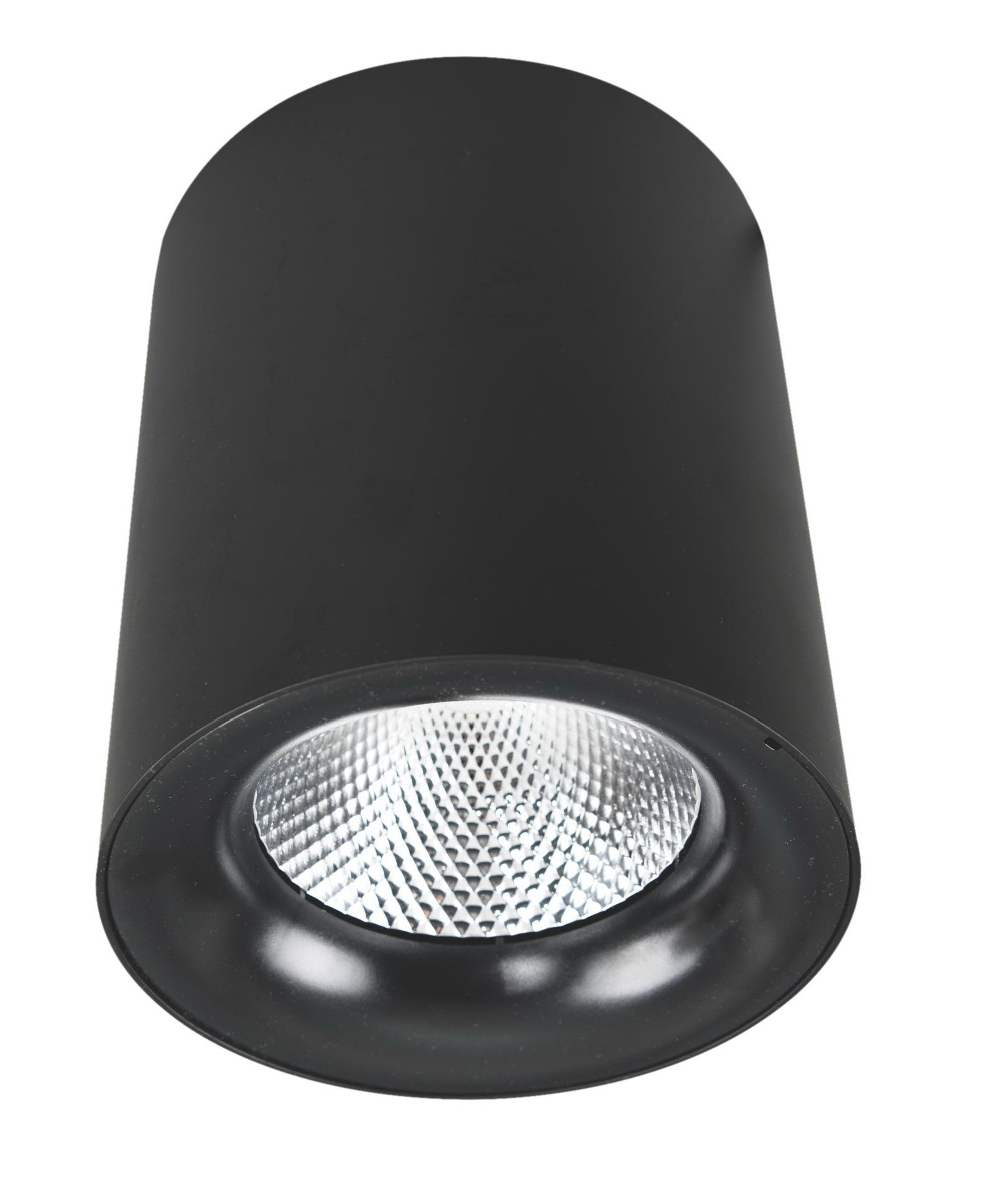Потолочный светодиодный светильник Arte Lamp Instyle Facile A5112PL-1BK, LED 12W 3000K 900lm CRI≥80, черный, металл - фото 1