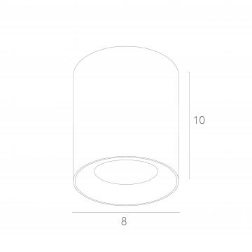 Схема с размерами Arte Lamp Instyle A5112PL-1BK