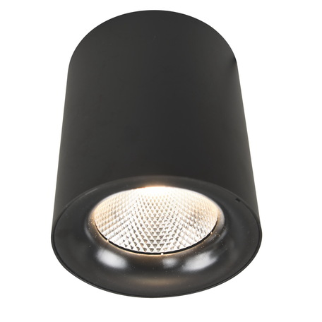 Потолочный светодиодный светильник Arte Lamp Instyle Facile A5118PL-1BK, LED 18W 3000K 1550lm CRI≥80, черный, металл