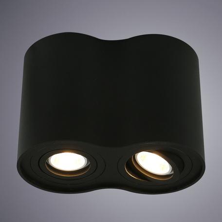 Потолочный светильник Arte Lamp Instyle Falcon A5644PL-2BK, 2xGU10x50W, черный, металл