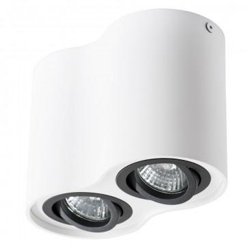 Потолочный светильник Arte Lamp Instyle Falcon A5644PL-2WH, 2xGU10x50W, белый, черный, металл