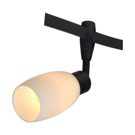 Светильник для гибкой системы Arte Lamp Instyle Rails Heads A3059PL-1BK, 1xE14x40W, черный, белый, металл, стекло