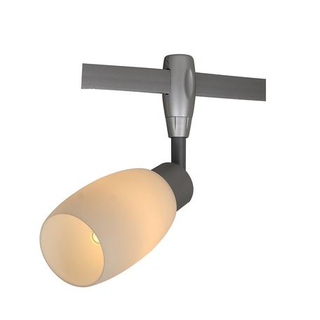 Светильник для гибкой системы Arte Lamp Instyle Rails Heads A3059PL-1SI, 1xE14x40W, серебро, белый, металл, стекло