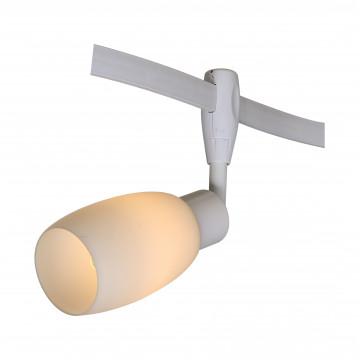Светильник с регулировкой направления света для гибкой системы Arte Lamp Instyle Rails Heads A3059PL-1WH, 1xE14x40W, белый, металл, стекло