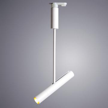 Светодиодный светильник с регулировкой направления света для шинной системы Arte Lamp Instyle Andromeda A2513PL-1WH, LED 12W 4000K 1100lm CRI≥90, белый, металл