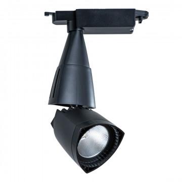 Светодиодный светильник с регулировкой направления света для шинной системы Arte Lamp Instyle Lynx A3830PL-1BK, LED 30W 4000K 2100lm CRI≥80, черный, металл, пластик