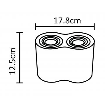 Потолочный светильник Arte Lamp Instyle Falcon A5644PL-2BK, 2xGU10x50W, черный, металл - миниатюра 2
