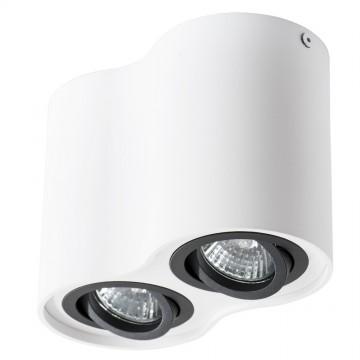 Потолочный светильник Arte Lamp Instyle Falcon A5644PL-2WH, 2xGU10x50W, белый, черный, металл - миниатюра 2