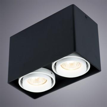 Потолочный светильник Arte Lamp Instyle Pictor A5655PL-2BK, 2xGU10x50W, черный, металл