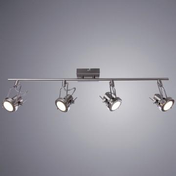 Потолочный светильник с регулировкой направления света Arte Lamp Costruttore A4301PL-4SS, 4xGU10x50W, серебро, металл