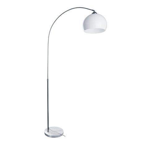 Торшер Arte Lamp Fredo A5823PN-1SS, 1xE27x60W, белый, серебро, металл, мрамор, пластик