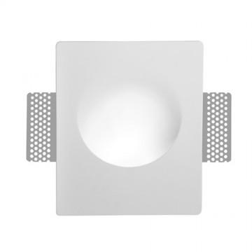 Встраиваемый светильник Arte Lamp Instyle Invisible A3113AP-1WH, 1xGU10x35W, белый, под покраску, гипс