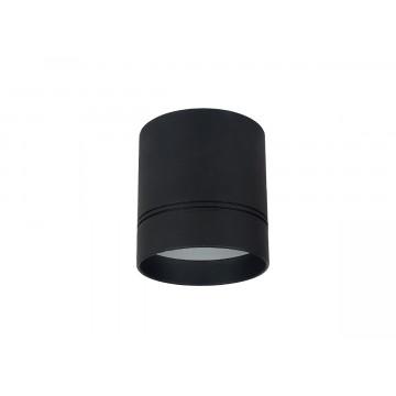 Потолочный светодиодный светильник Donolux Barell DL18482/WW-Black R, LED 7W 3000K 640lm