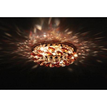 Встраиваемый светильник Donolux DL061.79.1/7 crystal/topaz, 1xGU5.3x50W