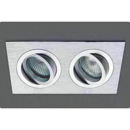 Встраиваемый светильник Donolux SA1522-Alu, 2xGU5.3x50W