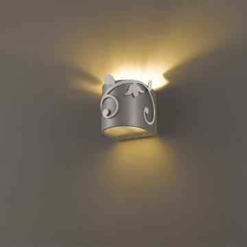 Настенный светильник Favourite Florina 1464-1W SALE, 1xG9x40W, серебро, металл, стекло