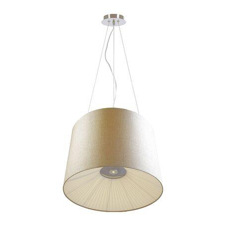 Подвесной светильник Favourite Cupola 1056-6P SALE, 6xE27x25W + LED 1W, хром, бежевый, металл, текстиль